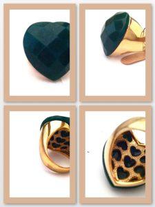 Toques de Luxo Anél quartzo verde